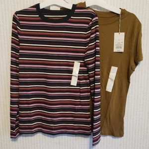 a new day Women's T-shirts Lot 2 shirts Small